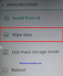 Realme wipe data option - Hard Reset