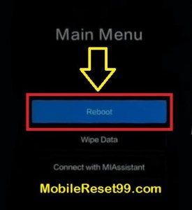 Hard Reset - Reboot option