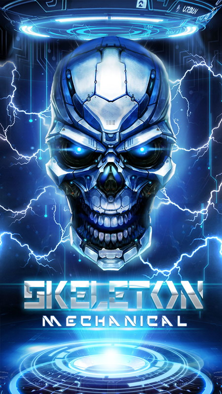 Future tech skull live wallpaper Free Android Live
