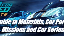 Need for Speed: No Limits Guide - Materials, Car parts, Missions and Car Series