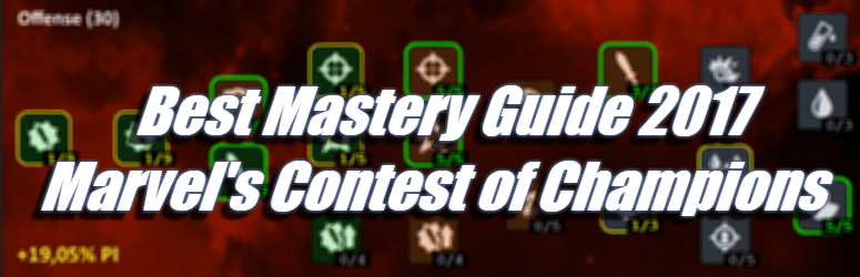 Best Mastery Guide 2017 - Marvel's Contest of Champions