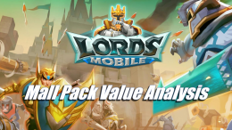 Lords Mobile - Mall pack value analysis