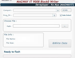 Magway IT 9008 Block0 Writer is a small application for windows computer which allows you to write the IMEI data on almost all the Qualcomm Smartphone and tablets. It allows you to quickly scan the Comport, auto detect the Prog Path, Choose the File path, get the File information including the File name and File Size. It also allows you to quickly write the IMEI data on your Qualcomm device without the need of any database file. To write the IMEI data you need to get your Qualcomm device detected by the application and you are ready to use the application in no time. In order to use the Magway IT 9008 Block0 Tool properly, you need to install the Universal ADB Driver on your Computer. Once Driver is installed you can successfully connect your Android Device to the computer, and launch the Magway IT 9008 Block0 Tool on the computer. Download Magway IT 9008 Block0 Writer File Name: Magway_IT_9008_Block0_Writer.zip Alternative Name: Magway IT 9008 Block0 Writer File Version: v1.0 File Size: 1.7 MB Tool Link: Click Here to Get the Tool