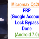 Micromax Q4261 FRP (Google Account) Lock Bypass Done