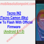 Tecno IN2 (Tecno Camon iSky) Flash With Stock Rom