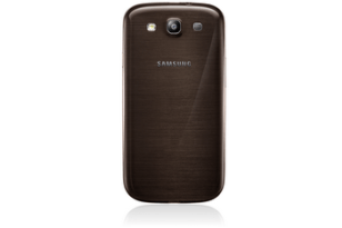 GALAXY S3 Amber Brown Back