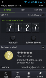 Cherry Mobile Titan TV Antutu Score