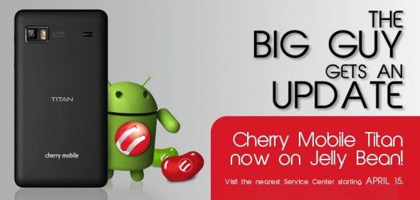 Cherry Mobile Titan Jelly Bean Update