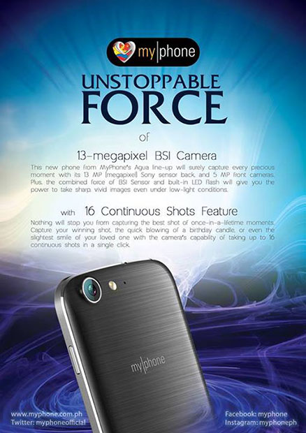 MyPhone Vortex Official Teaser 13mp BSI Camera
