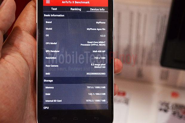 MyPhone Rio System Information
