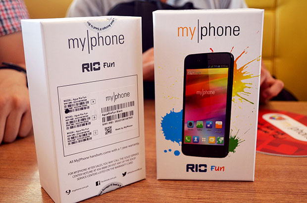 MyPhone Rio Fun Box Front and Back