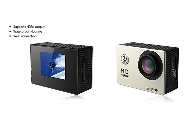 Qube X-Cam Sports Camera Front and Back