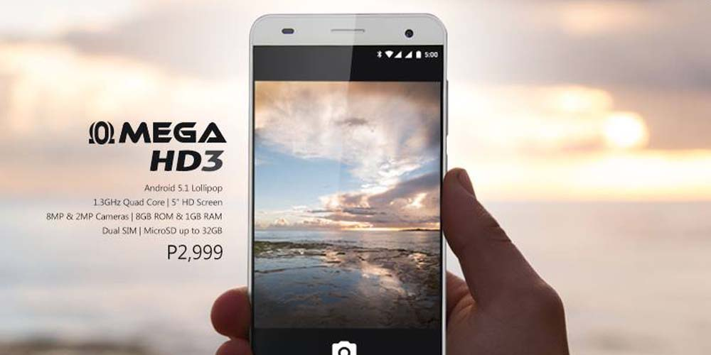 Cherry Mobile Omega HD3 Officially Announced for Just Php2,999!