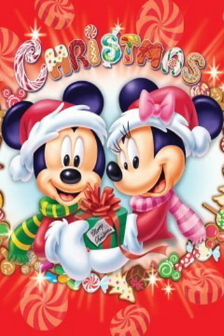 Cute Minnie And Mickey Mouse Wallpaper Download Christmas Mickey And Minnie Iphone Wallpaper