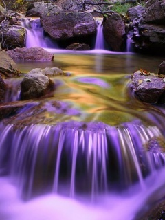 Animated Waterfall Wallpapers For Mobile Download Purple Falls Mobile Wallpaper Mobile Toones