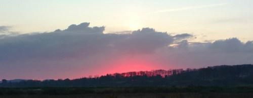 Dawn over Blakeney Marsh, shot with Nokia 808 Pureview