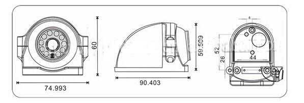 Sony CCD 700 TVL Car Reverse Camera IP68 , Black Reverse