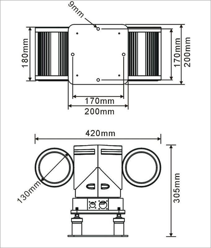 Portable Infrared IR HD 480TVL Vehicle mounted PTZ Camera