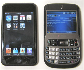 iPod touch and T-Mobile Dash