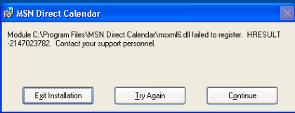 MSN Direct Outlook Plugin Failure