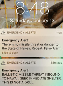 Hawaii missile warning 20180113