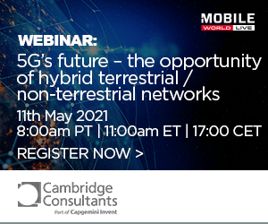 5G's future – the opportunity of hybrid terrestrial/non-terrestrial networks