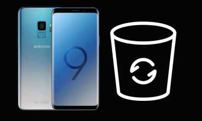 Where is recycle bin on Samsung S9?