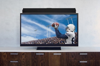 Soundbar Above TV