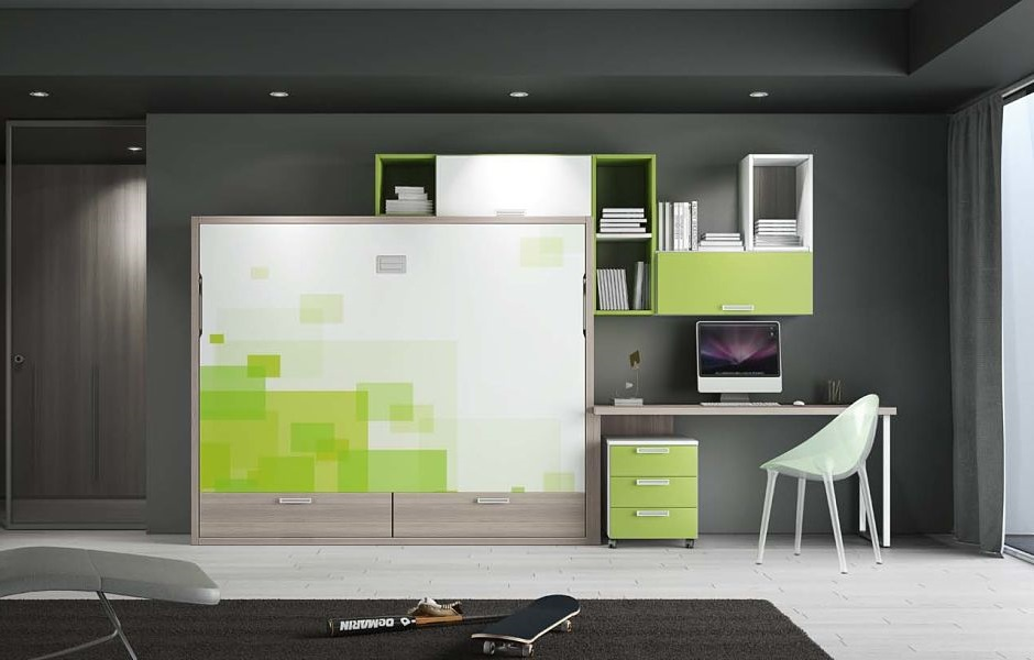 Letti a scomparsa e soluzioni per piccoli spazi  mobili A