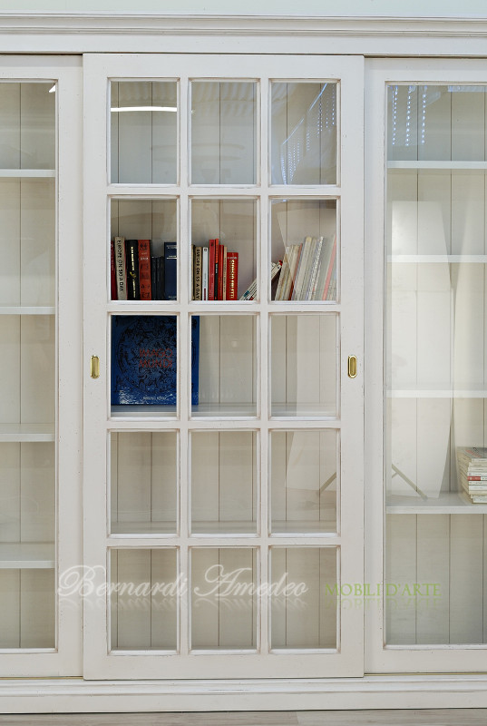 Librerie con ante scorrevoli 11  Librerie