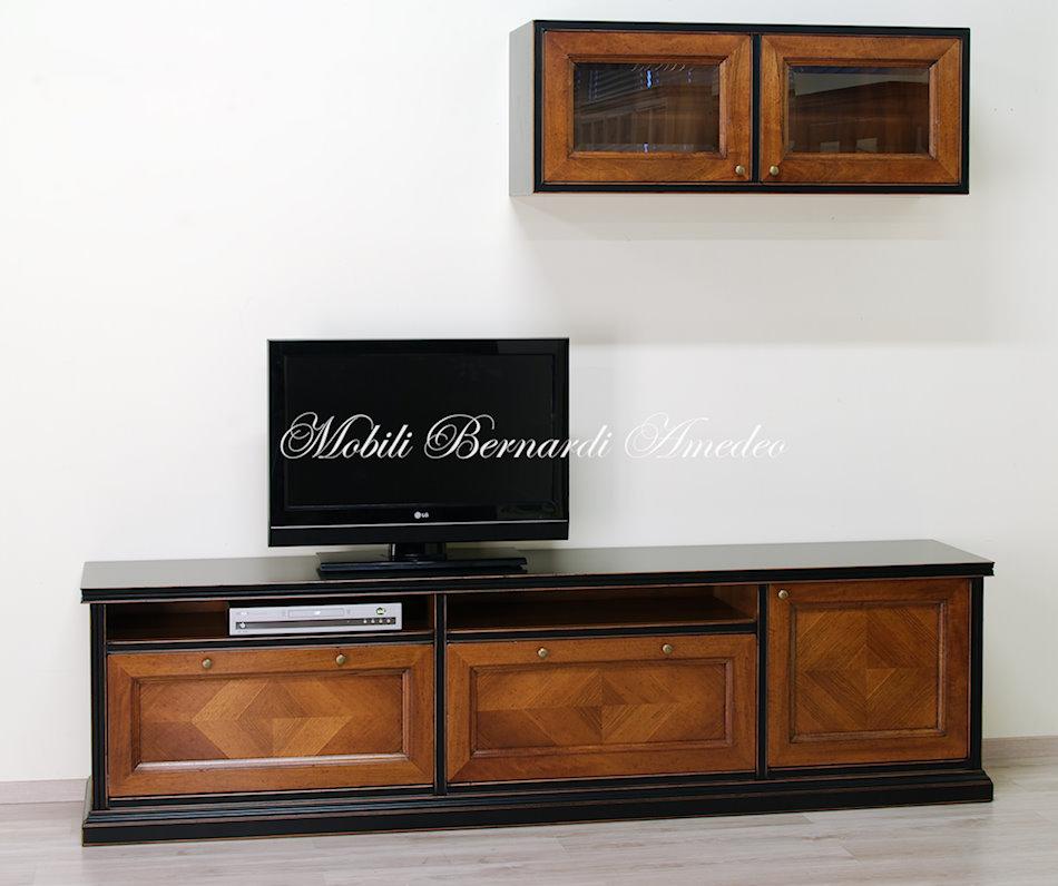Mobile Tv in legno massello base e pensile  Componibili