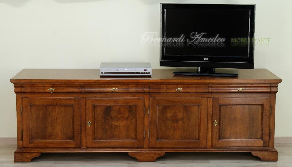 Porta TV legno vecchio 2  Porta TV