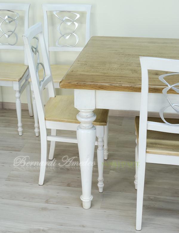 Tavolo da cucina in rovere massello e abete  Tavoli