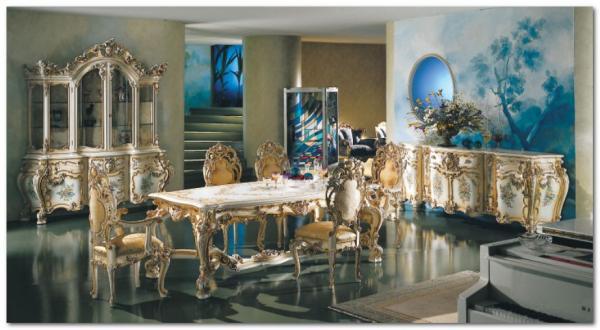 Mobili Buscemi  Arredamenti  Minerva sala da pranzo barocco