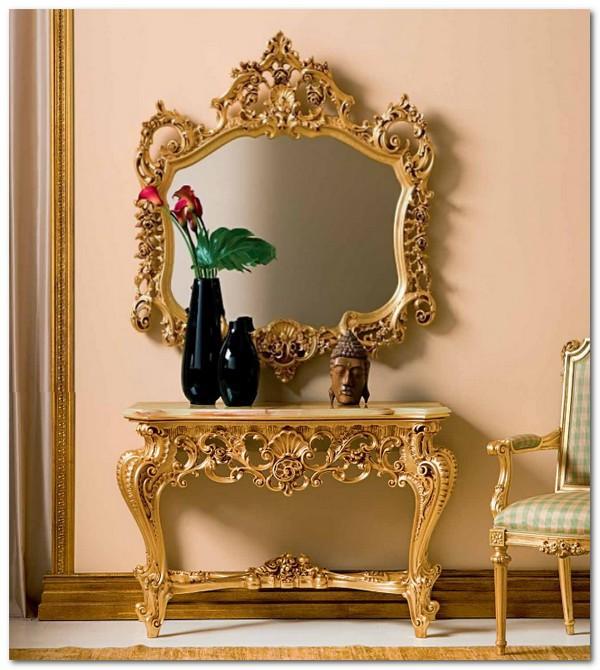 Mobili Buscemi  Arredamenti  Consolle Barocco Foglia oro