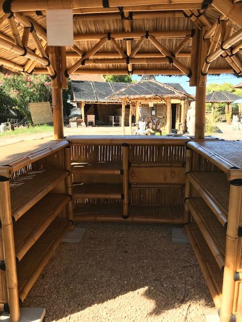 Bar extrieur en bambou  Vente abris de jardin en bambou et mobilier exotique