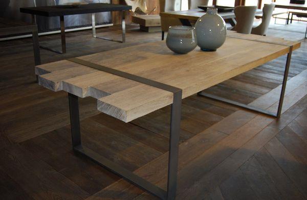 Creer Une Table Basse Industrielle Mod Le Table A Manger Industrielle Acier Et Bois