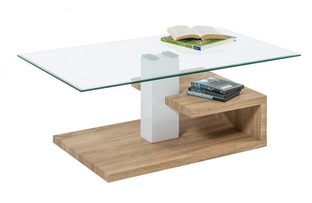 Table Basse Verre Bois L