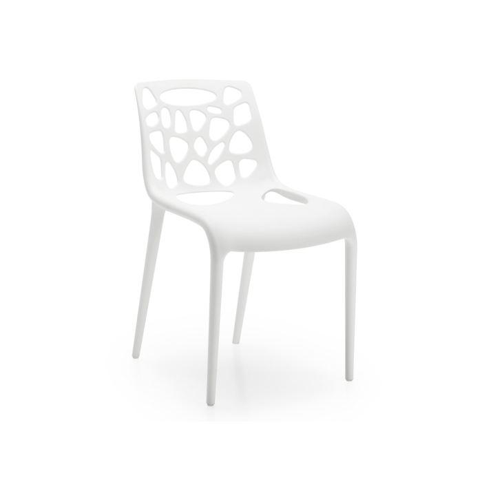 chaise cuisine blanche - boisholz - Chaise De Cuisine Blanche