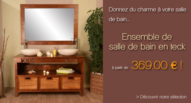 Teck Pas Cher Meuble Salle De Bain Zen Pas Meuble