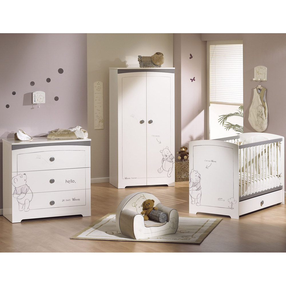 Aubert lit bebe evolutif interesting aubert stella little for Chambre bb lola