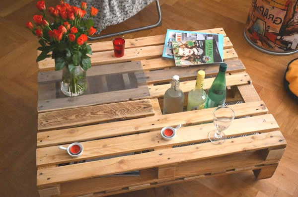table de bar en palette