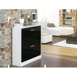 Meuble Chaussure Noir Et Blanc