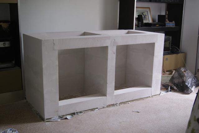 Meuble salle de bain suspendu sur carreau de platre - Fabriquer meuble de salle de bain ...