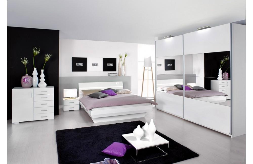 chambre blanc laqu design