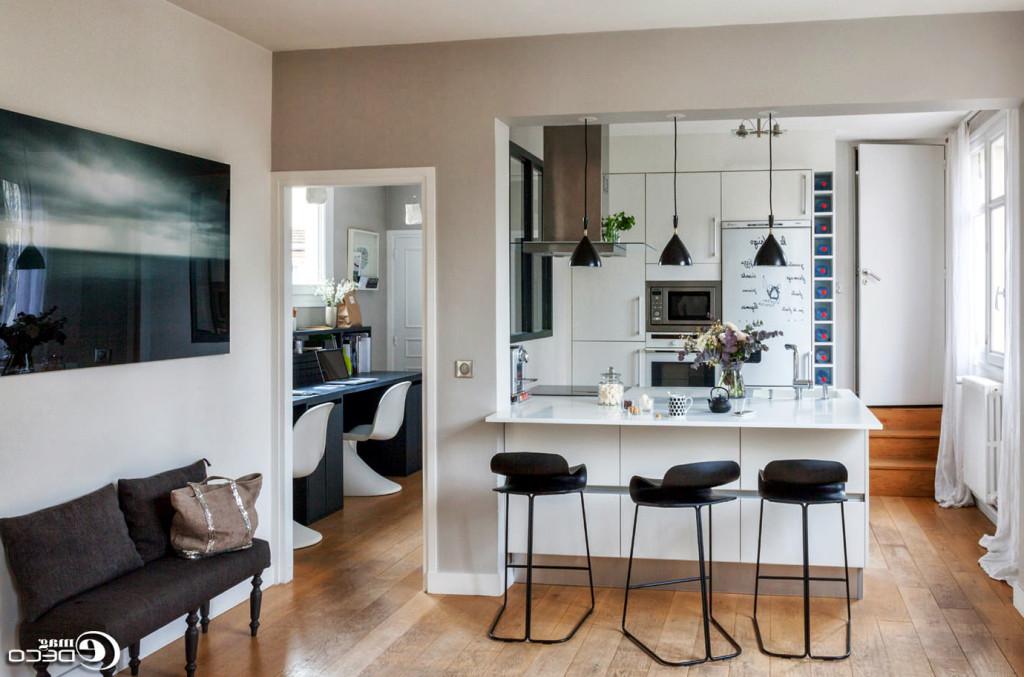 table haute de cuisine avec tabouret