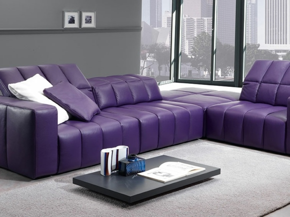 Purple Sectional