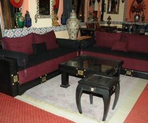 photo meuble salon marocain