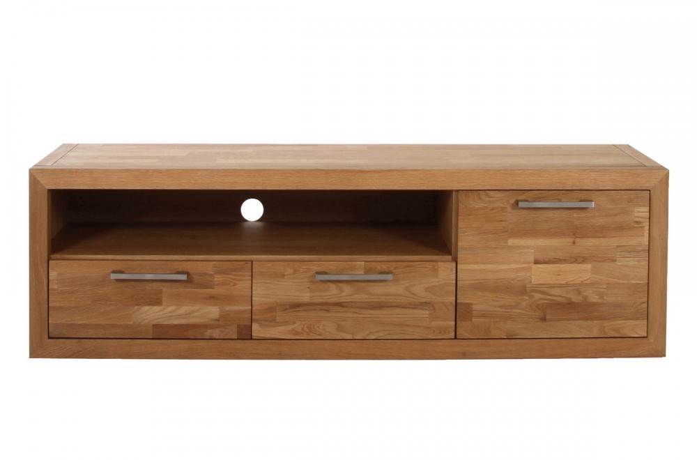 meuble tv contemporain en bois massif welson