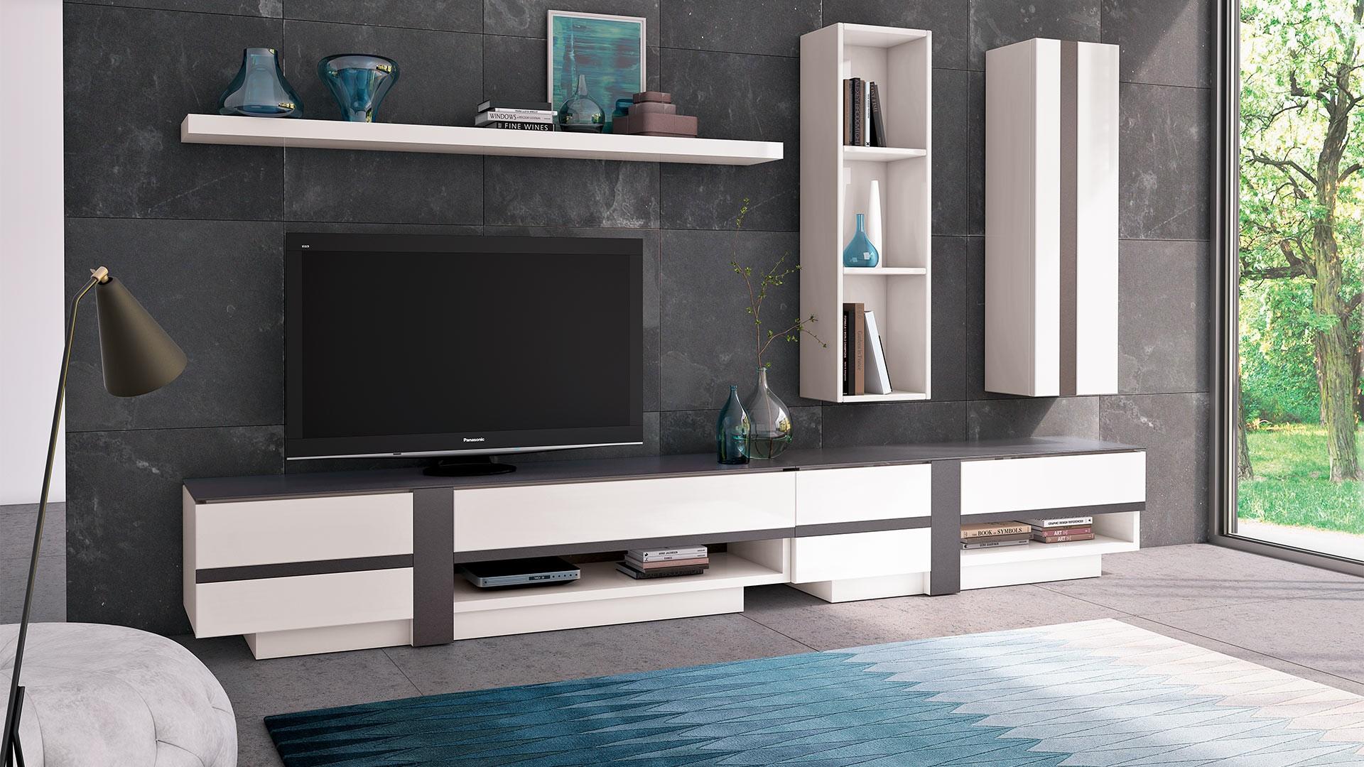 meuble tv 2 portes cross meuble